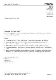 Delårsrapport for 1. halvår 2009/10 Henvendelse ... - Roblon A/S