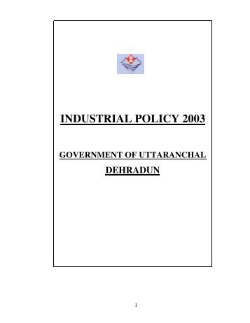 Download Industrial Policy 2003 (English) - Sidcul
