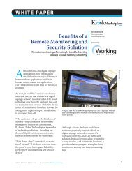 Benefits of a Remote Monitoring and Security Solution - Kiosk Monitor