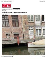 Getaway To Ghent For Belgium Family Fun - Visit Gent