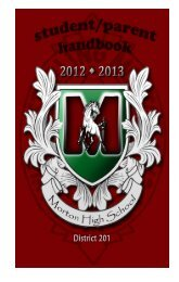 View the Morton 201 Student/Parent Handbook here - J. Sterling ...