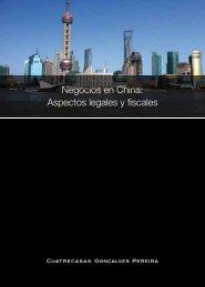 Negocios en China: Aspectos legales y fiscales - Cuatrecasas
