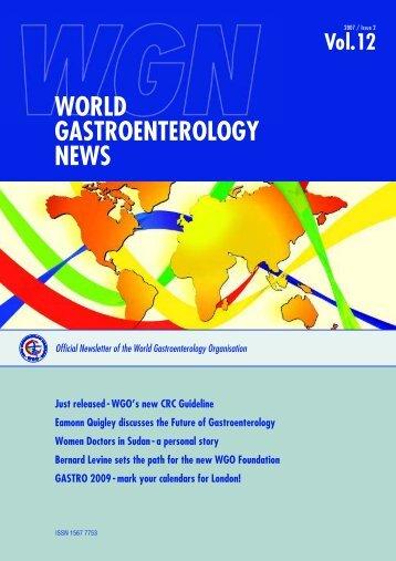 world gastroenterology news - World Gastroenterology Organisation