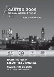 GASTRO 2009 Working Party Summaries - World Gastroenterology ...