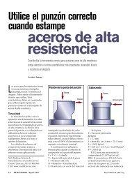 aceros de alta resistencia - PMA México ...Sirviendo a la Industria ...