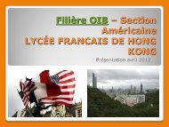 Filière OIB - Lycée français international Victor Segalen