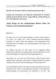 Laudatio - Kölnische Gesellschaft für christlich-jüdische ...