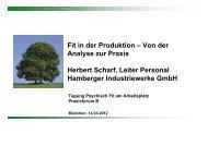 Fit in der Produktion - Institut für Betriebliche Gesundheitsförderung ...