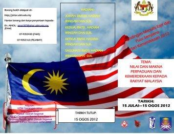 Pertandingan Menulis Esei dan Puisi Sempena Hari ... - UiTM Johor