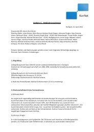 Protokoll der MV - KonNet
