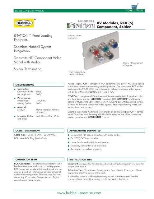 Excellent Av Module Rca 5 Component Solder Hubbell Premise Wiring Wiring Digital Resources Funapmognl