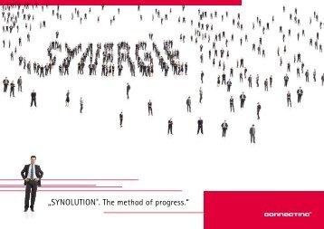 """SYNOLUTION®. The method of progress."" - Konzepte GmbH"
