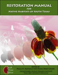 restoration manual - Caesar Kleberg Wildlife Research Institute ...