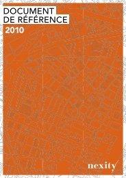 DOCUMENT DE RÉFÉRENCE 2010 - Nexity
