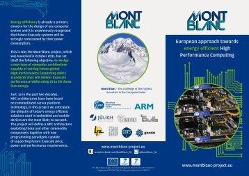 Brochure - Mont-Blanc project