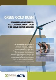 Green Gold Rush - Australian Council of Trade Unions