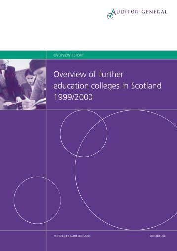 Overview of Further Education colleges (PDF | 262 ... - Audit Scotland