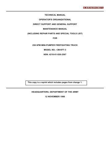 TM 5-4210-224-14&P TECHNICAL MANUAL OPERATOR'S ...