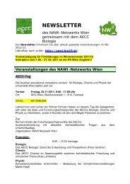 NEWSLETTER - AECC-Bio - Universität Wien