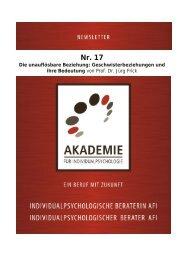 Die unauflösbare Beziehung - Akademie für Individualpsychologie