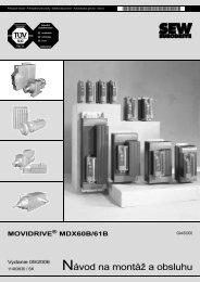 Návod na montáž a obsluhu - SEW Eurodrive