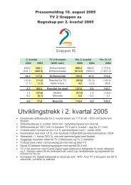 Regnskap 2. kvartal 2005 - Tv2