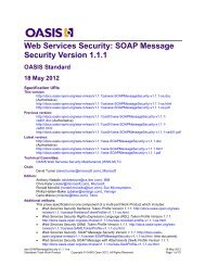 Web Services Security: SOAP Message Security Version 1.1.1