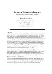 Corporate Venturing in Denmark
