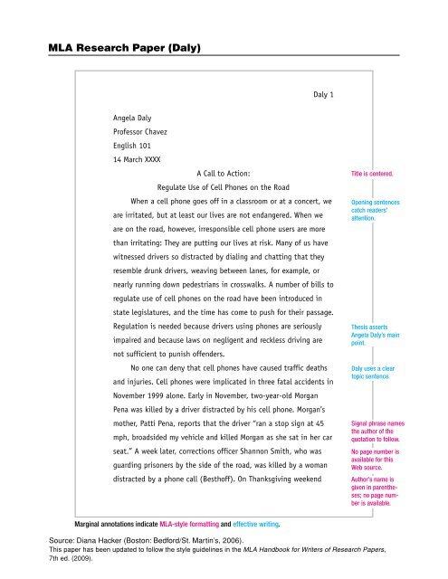 sample mla formatted research paper pdf phsgradproject