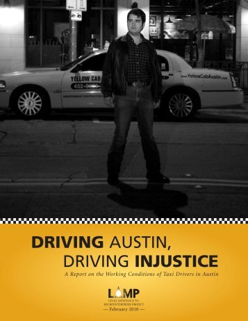 DRIVING AUSTIN, DRIVING INJUSTICE - Taxi Drivers Association ...