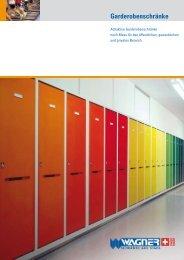 Garderobenschränke (PDF) - Wagner Uznach AG