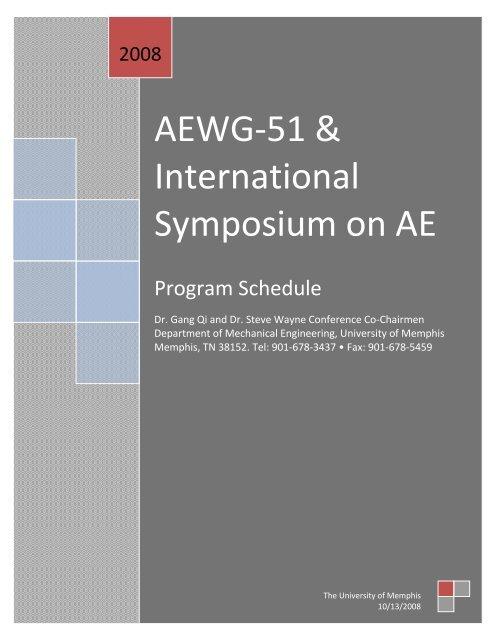 Conference Program (pdf) - Mechanical Engineering - University of ...