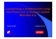 e-poslovanje v preskrbovalni verigi med Petrol d.d. in Poslovni ...