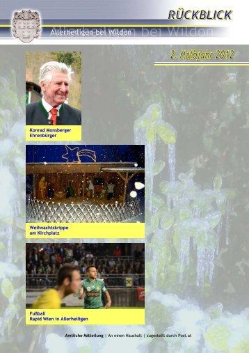 Rückblick 2. Halbjahr 2012 - Gemeinde Allerheiligen bei Wildon