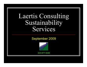 Laertis Consulting Sustainability Services - GreenProf