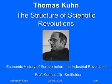 Thomas Kuhn - Economic History