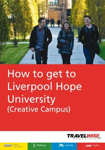 Creative Campus - the TravelWise Merseyside website