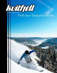 Find your favourite snow. - Kvitfjell