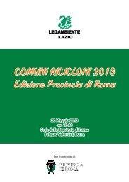 Comuni Ricicloni - Edizione Provincia di Roma - Legambiente Lazio