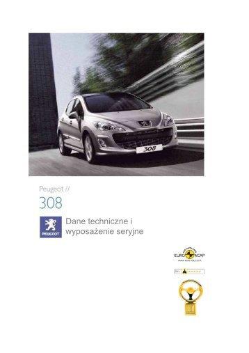 Dane techniczne i wyposaŜenie seryjne - Peugeot