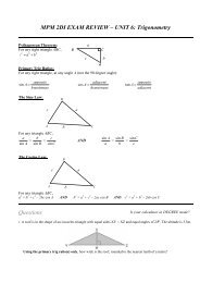 MPM2D1 EXAM REVIEW UNIT 6 SOLUTIONS pdf