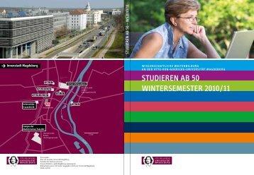 STUDIEREN Ab 50 WINTERSEMESTER 2010 / 11 - Otto-von ...