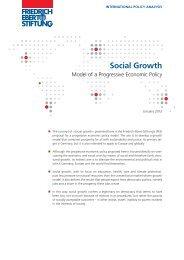 Social growth : model of a progressive economic policy