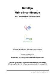 Richtlijn Urine-incontinentie - NVOG