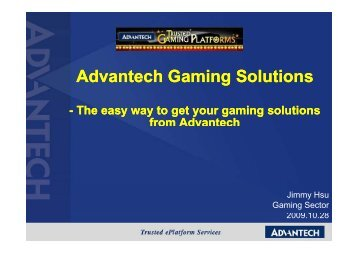 Advantech Gaming Solutions
