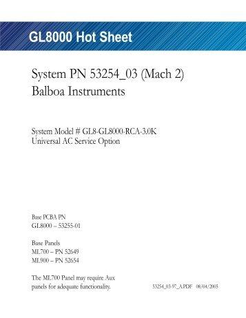 (Mach 2), GL8-GL8000-RCA-3.0K - Balboa Direct