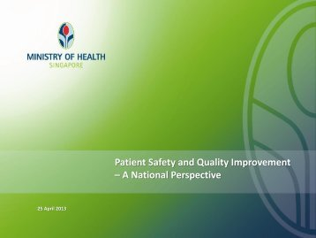 Patient Safety and Quality Improvement – A National Perspective