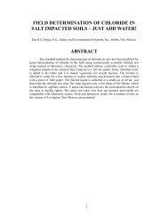 field determination of chloride in salt impacted soils – just add ... - IPEC