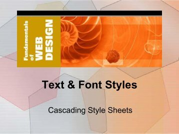 3. Text & Font Styles