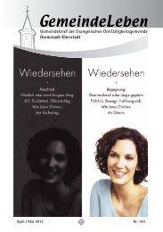 Ausgabe April / Mai 2013 - Nr. 143 - Dreifaltigkeitsgemeinde Eberstadt